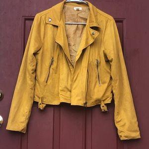 Jackets & Blazers - Trendy Mustard Motorcycle Jacket